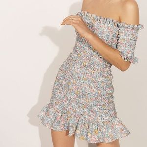 Petersyn NWT Smocked Benson Floral Mini Dress